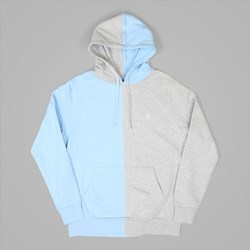 HUF HENRY PO HOOD HEATHER GREY BABY BLUE