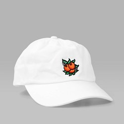 HUF JUICE UNCONSTRUCTED 6 PANEL CAP WHITE