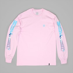HUF LADDER LONG SLEEVE T-SHIRT PINK