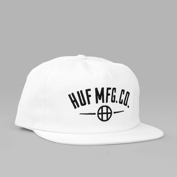 HUF MFG STATION SNAPBACK CAP WHITE