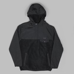 HUF MUIR HOODED PULLOVER JACKET BLACK