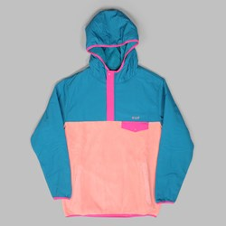 HUF MUIR HOODED PULLOVER JACKET DARK TEAL