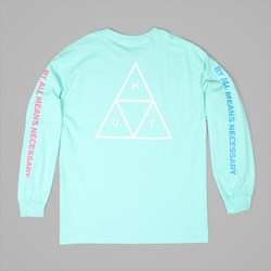 HUF MULTI TRIPLE TRIANGLE LONG SLEEVE TEE MINT