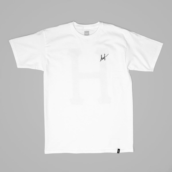 HUF MUTED MILITARY CLASSIC H T SHIRT WHITE