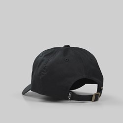HUF OG LOGO CURVED VISOR DAD HAT BLACK