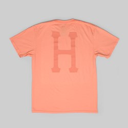HUF OVER DYE CLASSIC H SS T-SHIRT CORAL HAZE