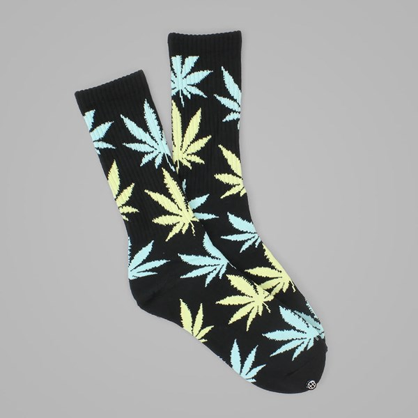 HUF PLANTLIFE CREW SOCK BLACK-BUTTER-BLUE