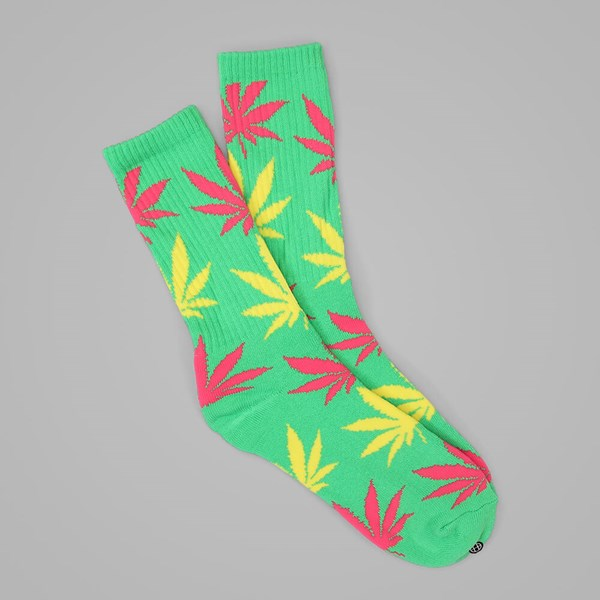 HUF PLANTLIFE CREW SOCK GREEN-PINK-BUTTER
