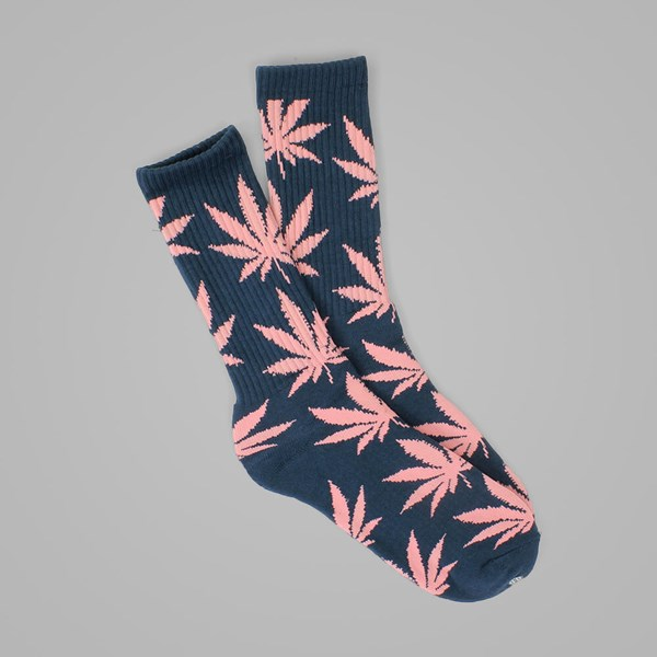 HUF PLANTLIFE CREW SOCK MIDNIGHT-PINK