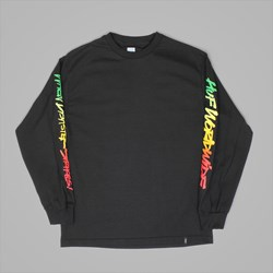 HUF RA TRIANGLE LONG SLEEVE T-SHIRT BLACK