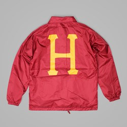 HUF RECRUIT COACHES JACKET RED