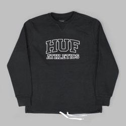 HUF ROMES CREW NECK FLEECE BLACK