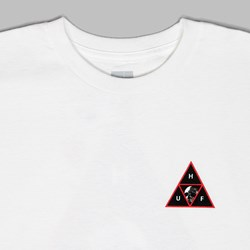 HUF ROSE TRIPLE TRIANGLE SS T-SHIRT WHITE