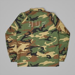 HUF SHADOW COACH JACKET WOODLAND