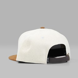 HUF SMALL METAL H SNAPBACK CAP NATURAL