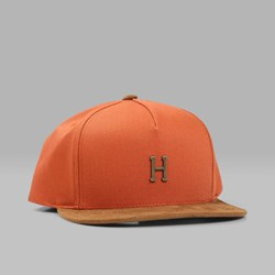 HUF SMALL METAL H SNAPBACK CAP RUST