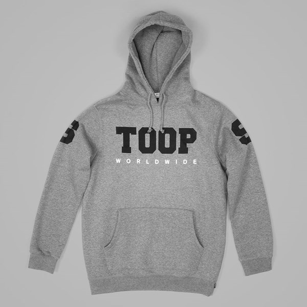 HUF STOOPS WORLDWIDE PULLOVER HOOD GREY