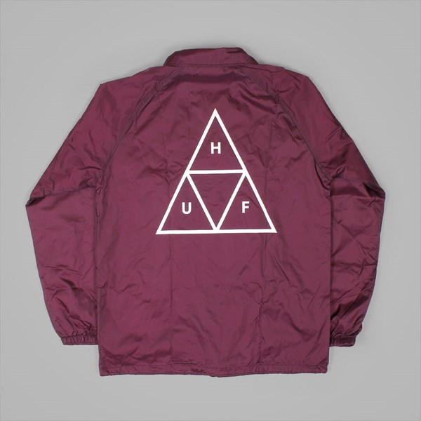 HUF TRIPLE TRIANGLE COACH JACKET MAROON