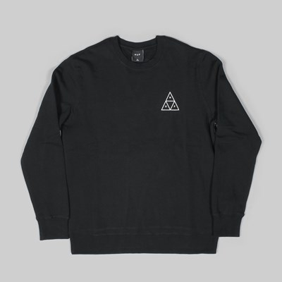 HUF TRIPLE TRIANGLE CREW NECK SWEAT BLACK
