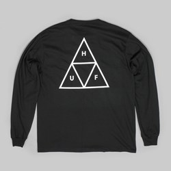 HUF TRIPLE TRIANGLE LS T-SHIRT BLACK