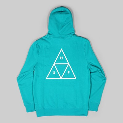 HUF TRIPLE TRIANGLE PO HOODIE TROPICAL GREEN