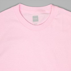 HUF TRIPLE TRIANGLE PUFF T SHIRT PINK