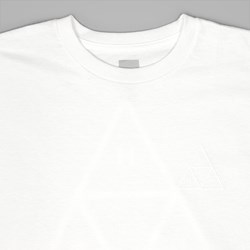 HUF TRIPLE TRIANGLE PUFF T SHIRT WHITE