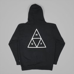 HUF TRIPLE TRIANGLE PULLOVER HOOD BLACK