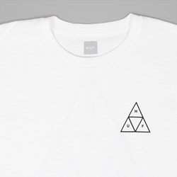 HUF TRIPLE TRIANGLE SS TEE WHITE