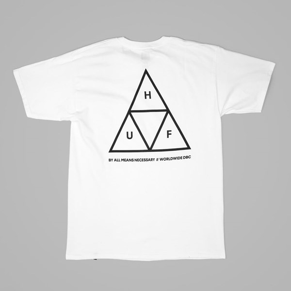 HUF TRIPLE TRIANGLE T SHIRT WHITE