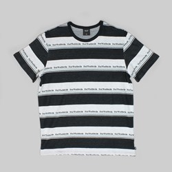 HUF WORLDWIDE STRIPE SS KNIT BLACK