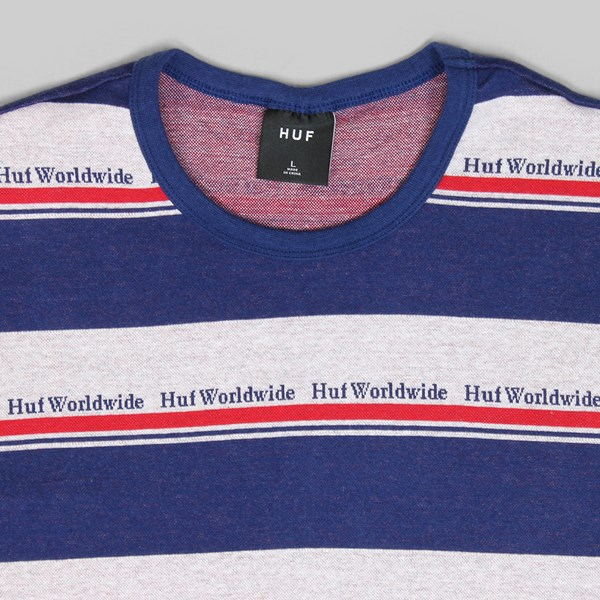 1e8be58b86 HUF WORLDWIDE STRIPE SS KNIT TWILIGHT BLUE | HUF Tees