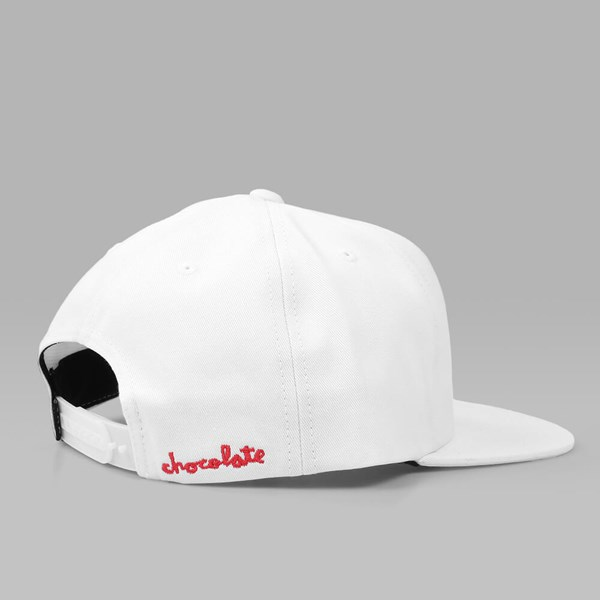 HUF X CHOCOLATE SNAPBACK CAP WHITE