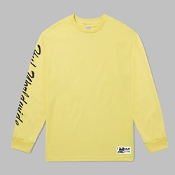 HUF X FELIX SANTEE LONG SLEEVE T-SHIRT BANANA