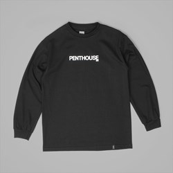 HUF X PENTHOUSE LIPS LONG SLEEVE TEE BLACK