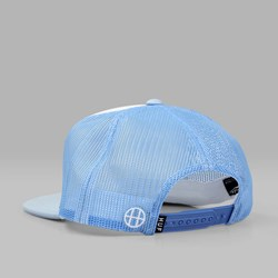 HUF X PENTHOUSE TRUCKER HAT LIGHT BLUE