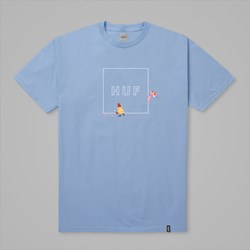 HUF X PINK PANTHER BOX LOGO SS TEE LIGHT BLUE