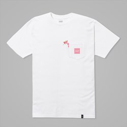 HUF X PINK PANTHER POCKET SS TEE WHITE