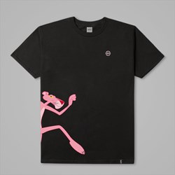 HUF X PINK PANTHER RUN SS T-SHIRT BLACK