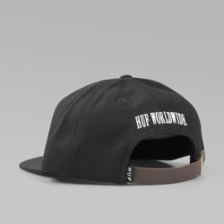 HUF X SLAP 6 PANEL CAP BLACK