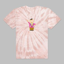 HUF X SOUTH PARK BIG GAY AL TIE DYE SS T-SHIRT PINK