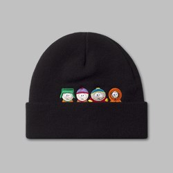 HUF X SOUTH PARK 'KIDS' BEANIE HAT BLACK