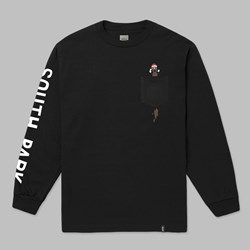 HUF X SOUTH PARK MR. HANKY LS POCKET TEE BLACK