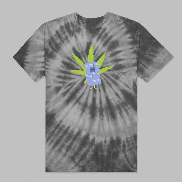 HUF X SOUTH PARK TOWELIE TIE DYE SS T-SHIRT BLACK
