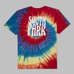HUF X SOUTH PARK TRIPPY TIE DYE SS T-SHIRT RAINBOW