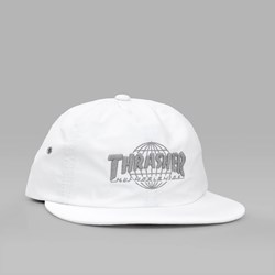 HUF X THRASHER TDS 6 PANEL DAD CAP WHITE