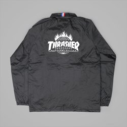 HUF X THRASHER TDS COACH JACKET BLACK