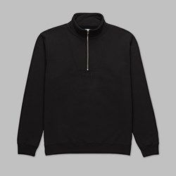 POLAR SKATE CO. HEAVYWEIGHT ZIP NECK BLACK