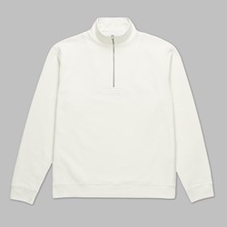 POLAR SKATE CO. HEAVYWEIGHT ZIP NECK IVORY