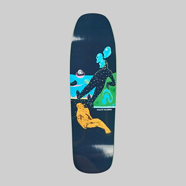 POLAR SKATE CO. HALBERG SPACED OUT DECK 1992 9.25